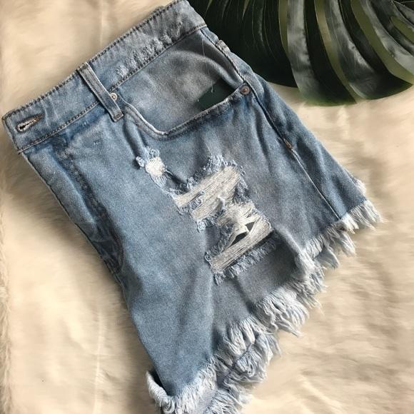 612e37663fd Wild Fable distressed denim shorts